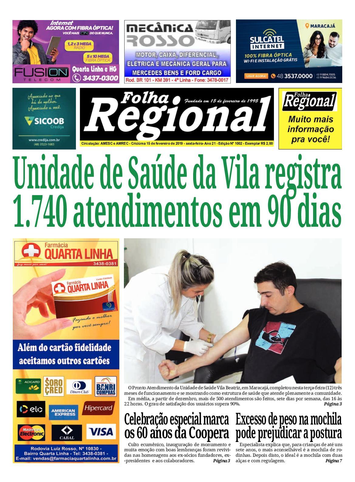 Folha Regional Ed.1002 - 15/02/2019