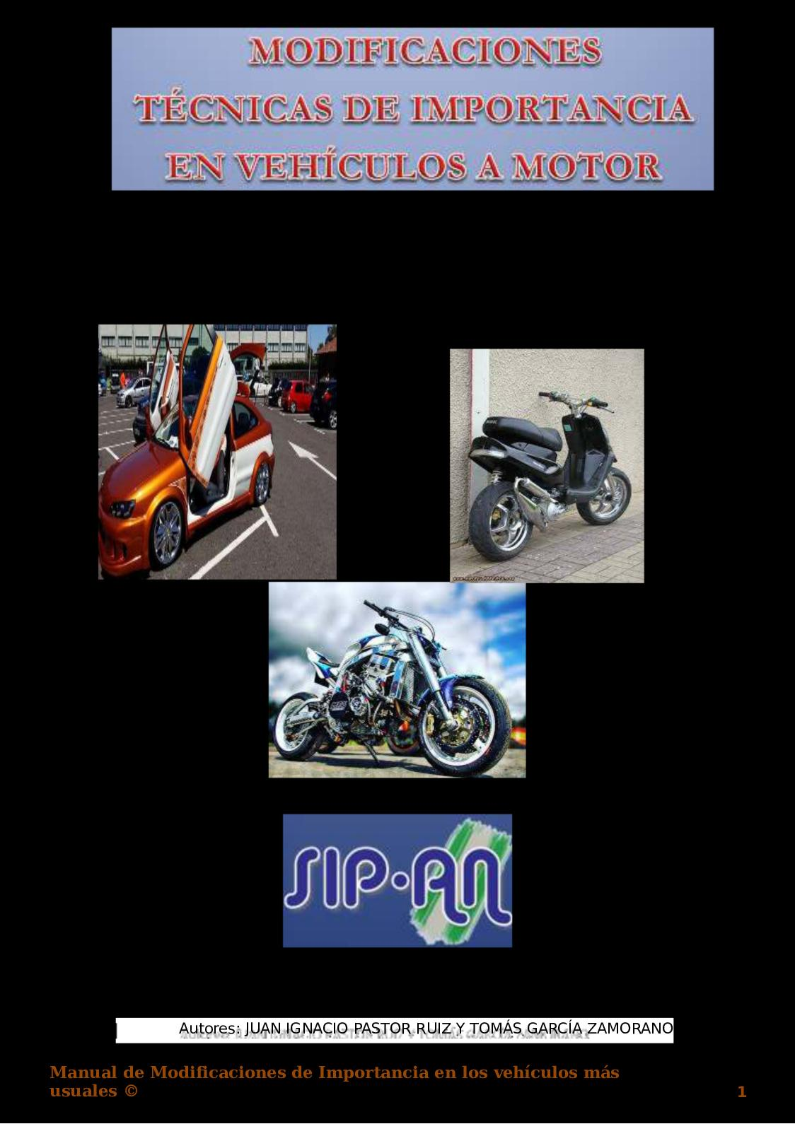 401 Modificaciones Técnicas De Importancia En Los Vehículos A Motor