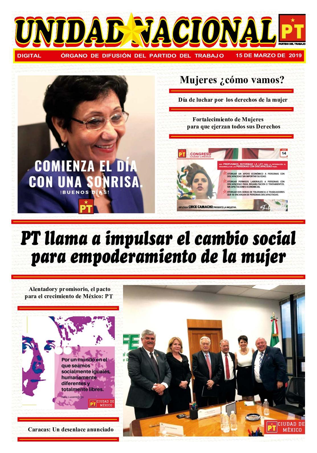 Unidad Nacional 15 De Marzo De 2019