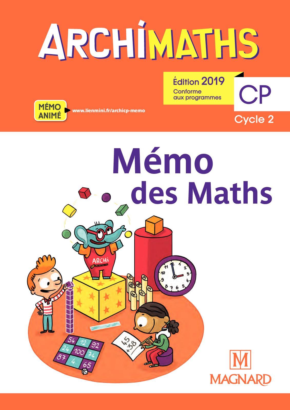 Mémo des Maths - Archimaths CP