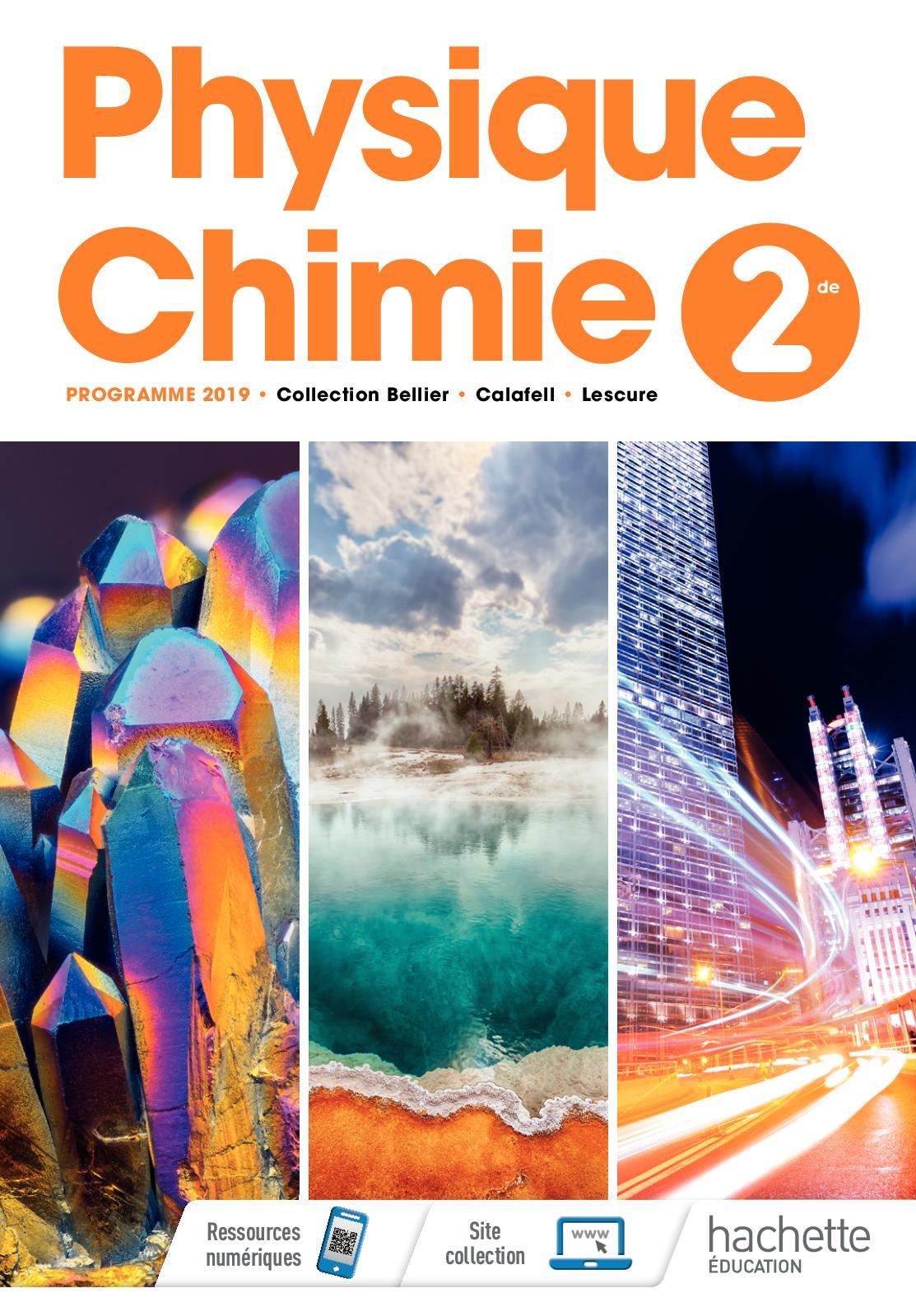 Spécimen Physique-Chimie 2de