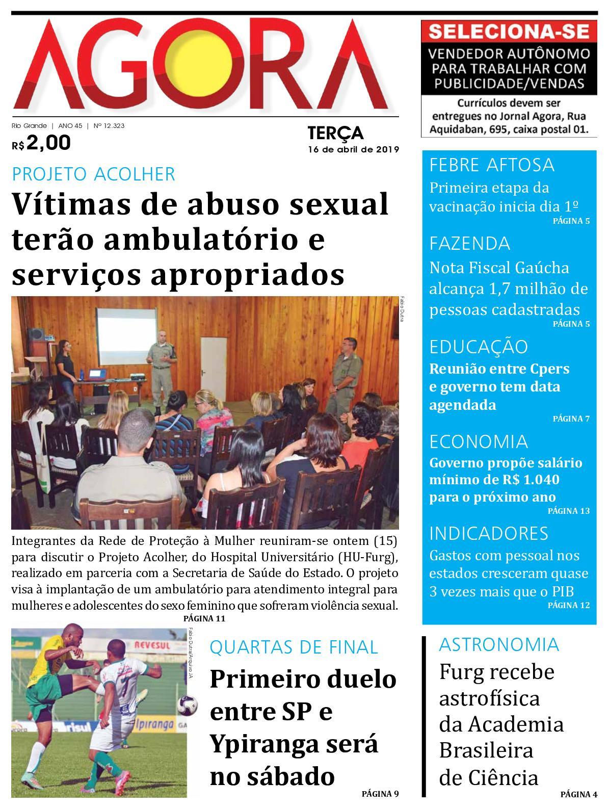 Jornal Agora - Edição 12323 - 16 de Abril de 2019