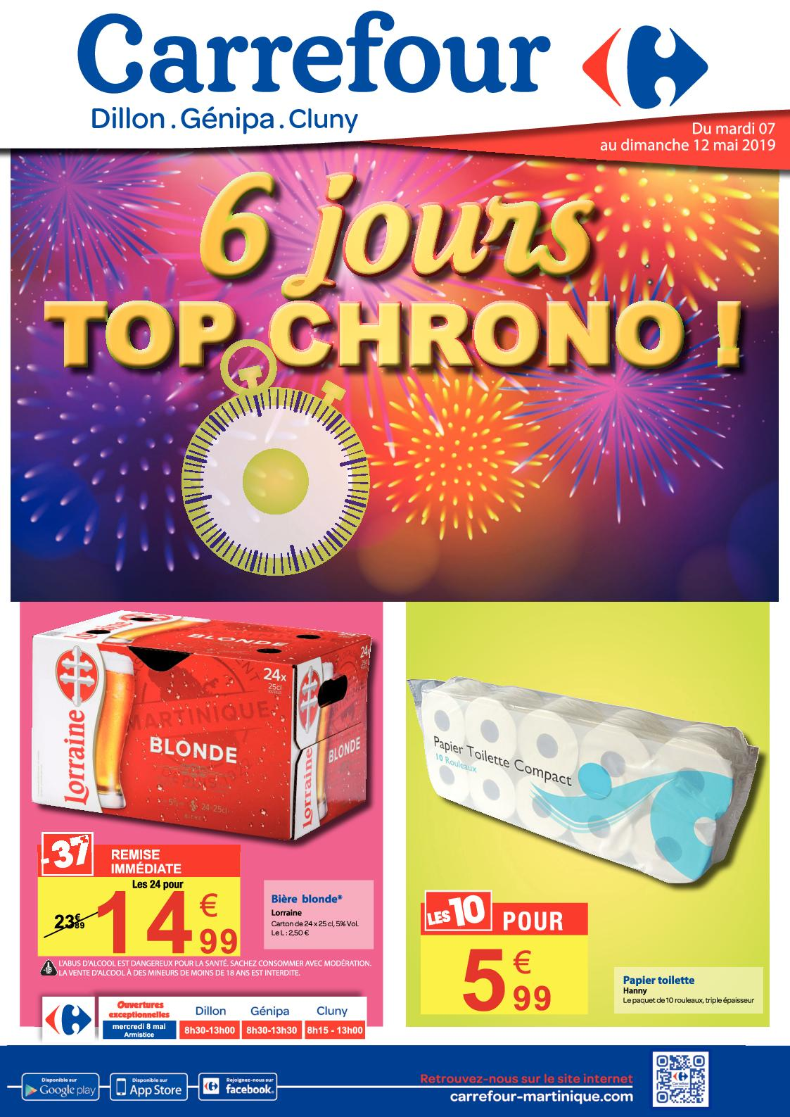 CARREFOUR: 6 JOURS TOP CHRONO!
