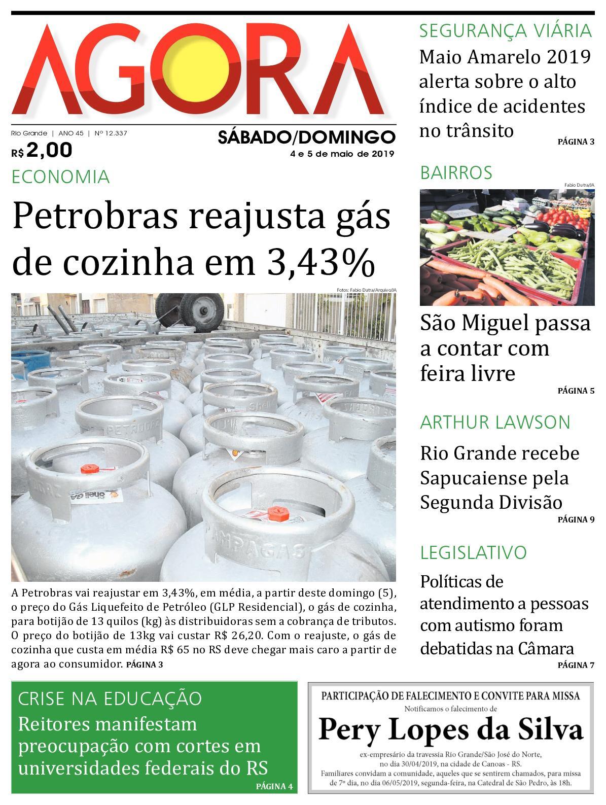 Jornal Agora - Edição 12337 - 4 e 5 de Maio de 2019