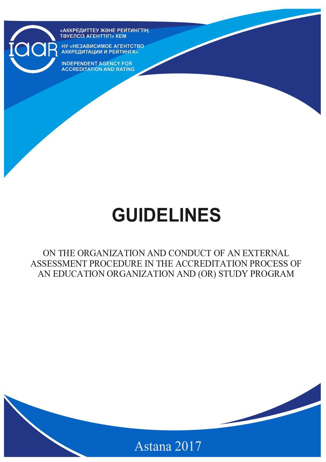 Appendix 4 Guidelines On External Assessment