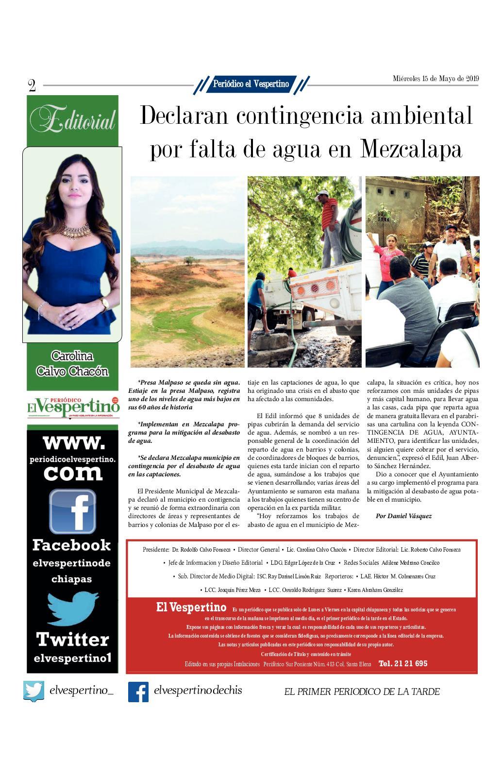 Periodico El Vespertino 1082