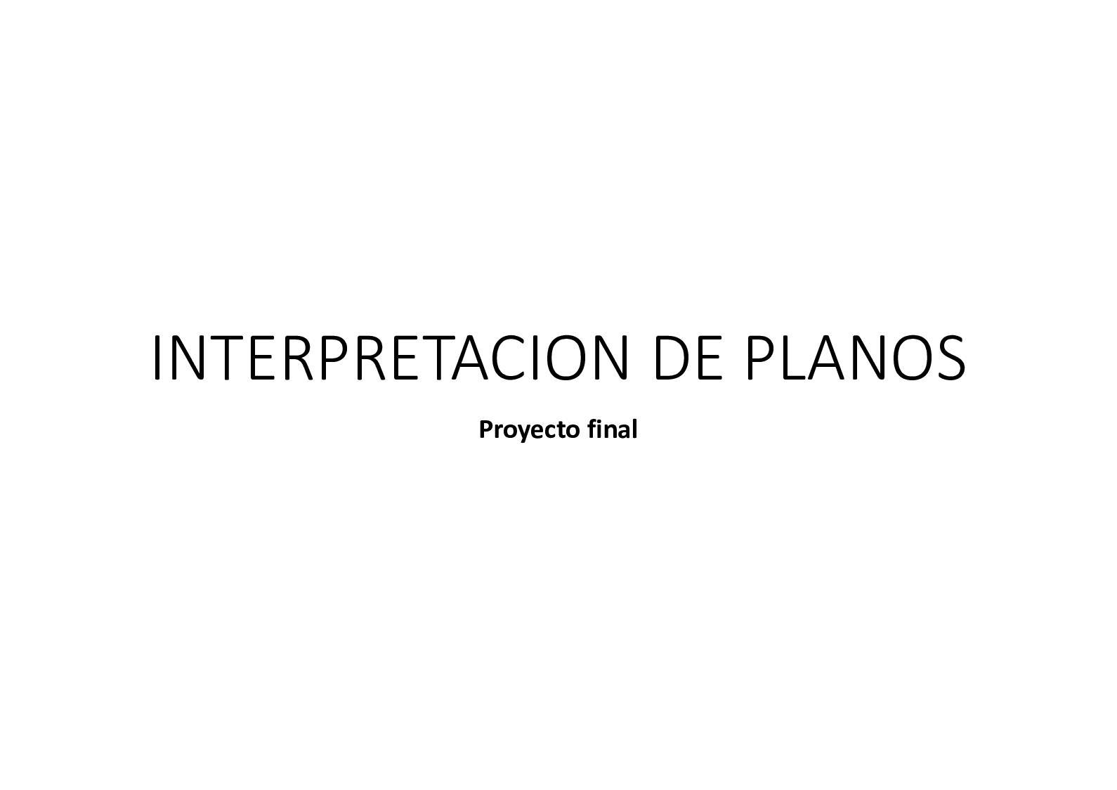 Interpretacion Planos Proyecto Final