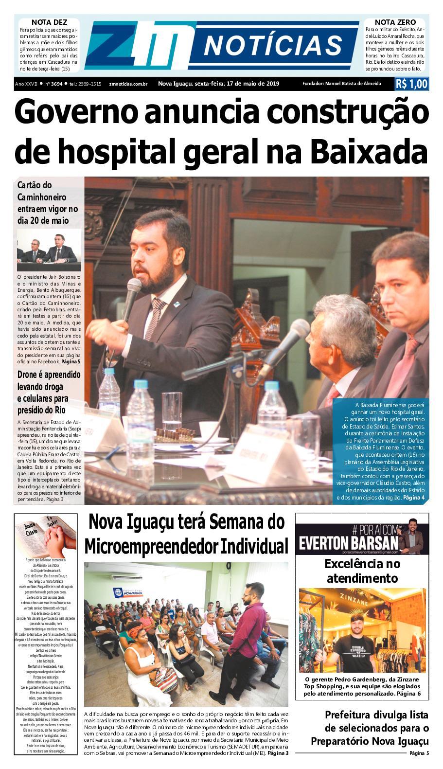 Z M Noticias - Edicao 170519