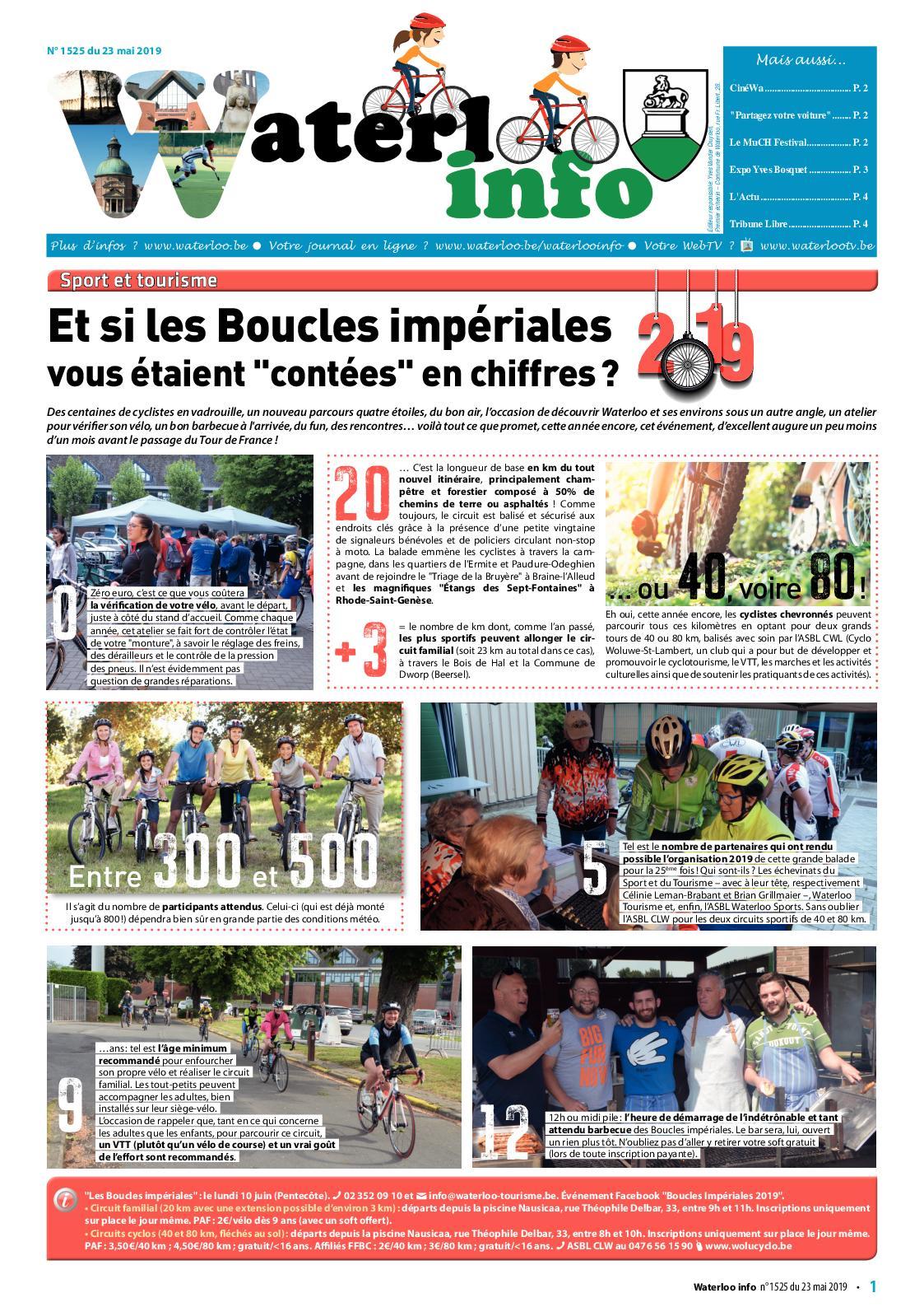 Waterloo Info n°1525 du 23 mai 2019