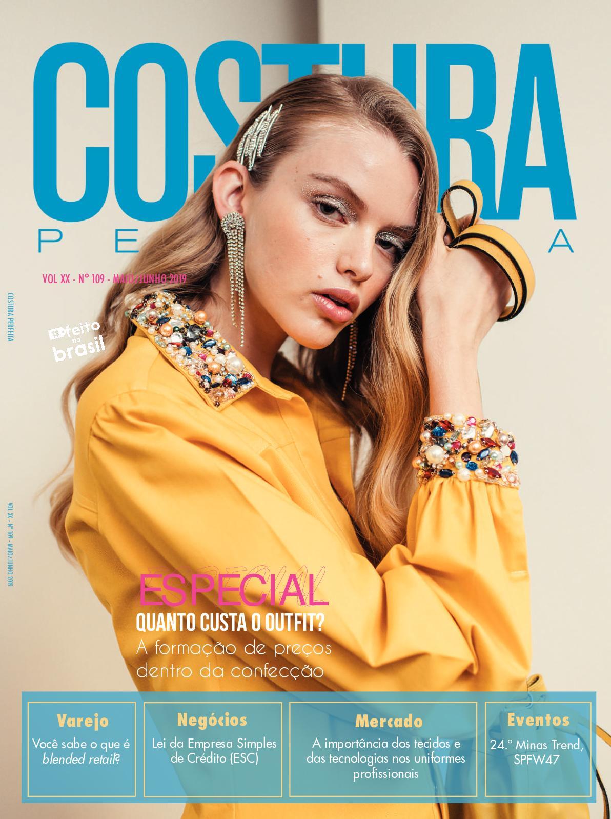 Revista Costura Perfeita Edição Ano XX - N109 - Maio/Junho
