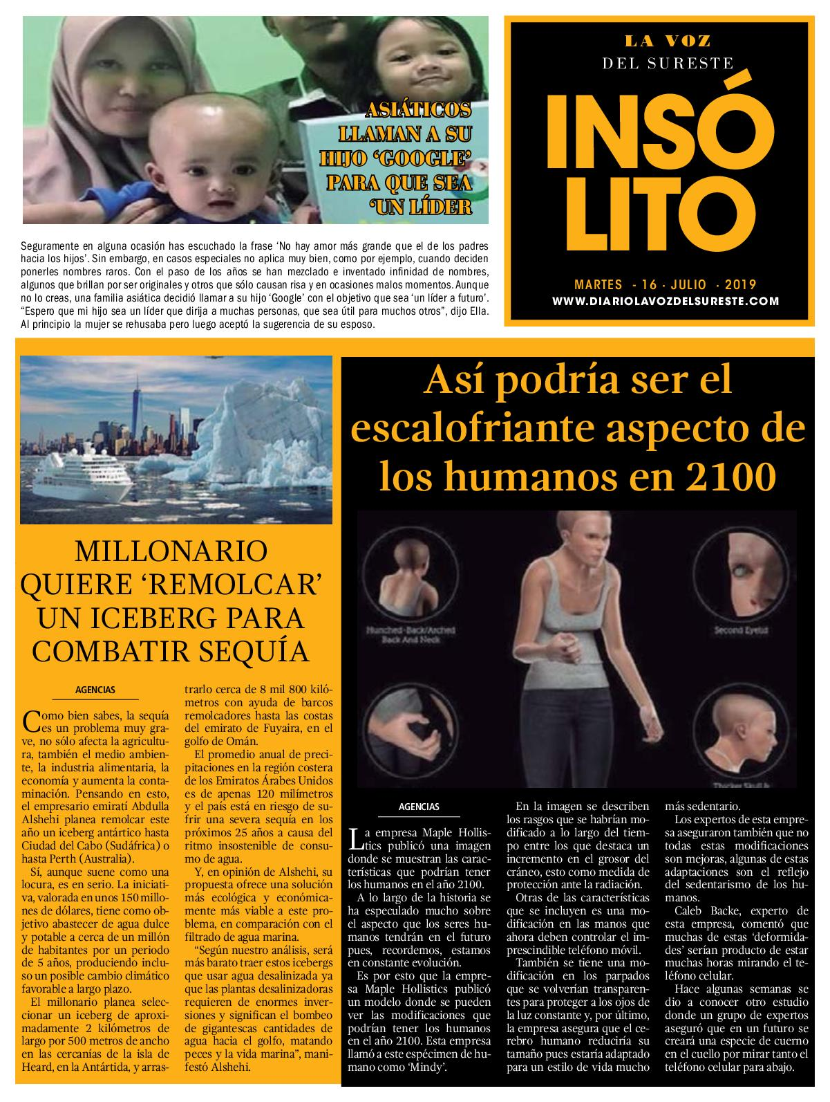 Diario La Voz del Sureste  16-07-2019