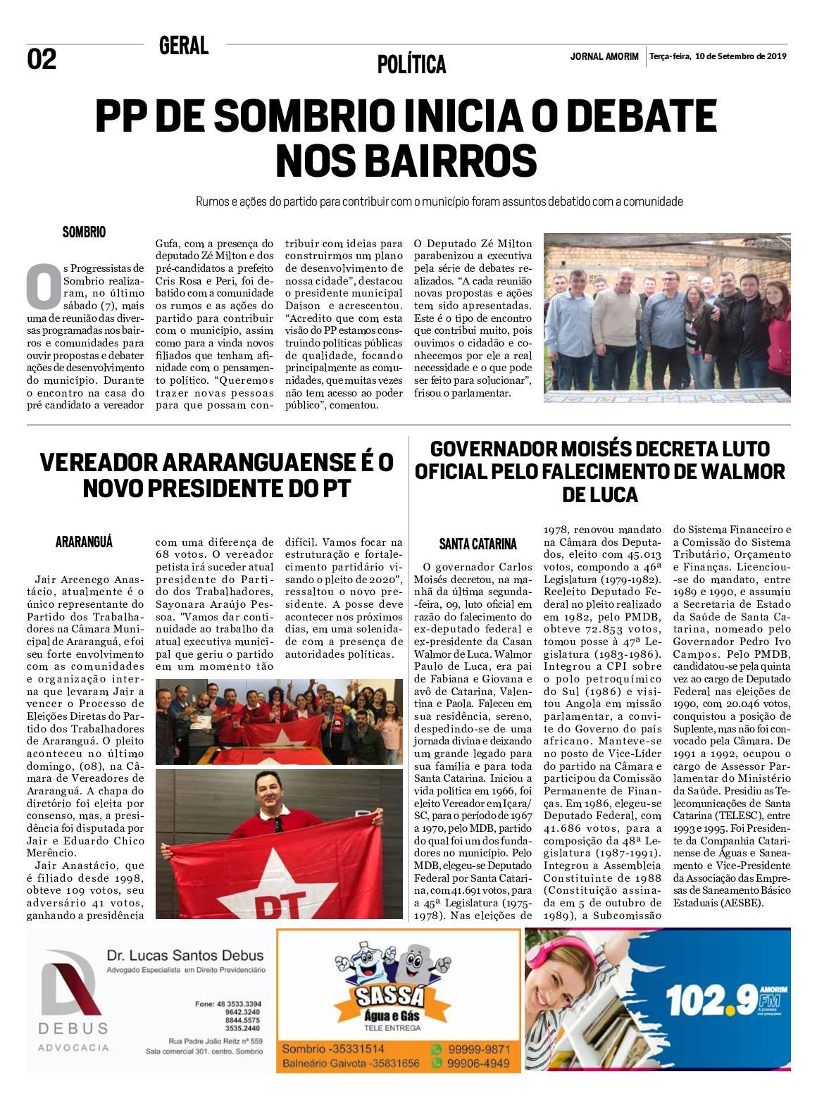 Jornal Amorim  10 09 19 2019