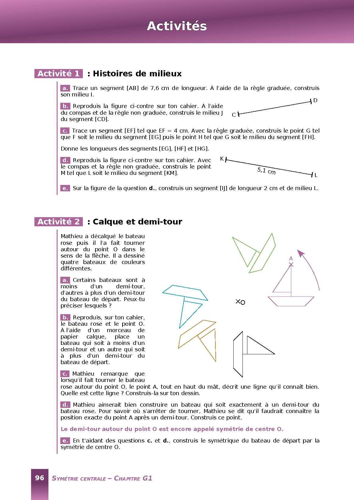 Calam o manuel de math matique 5e s samath for B b com