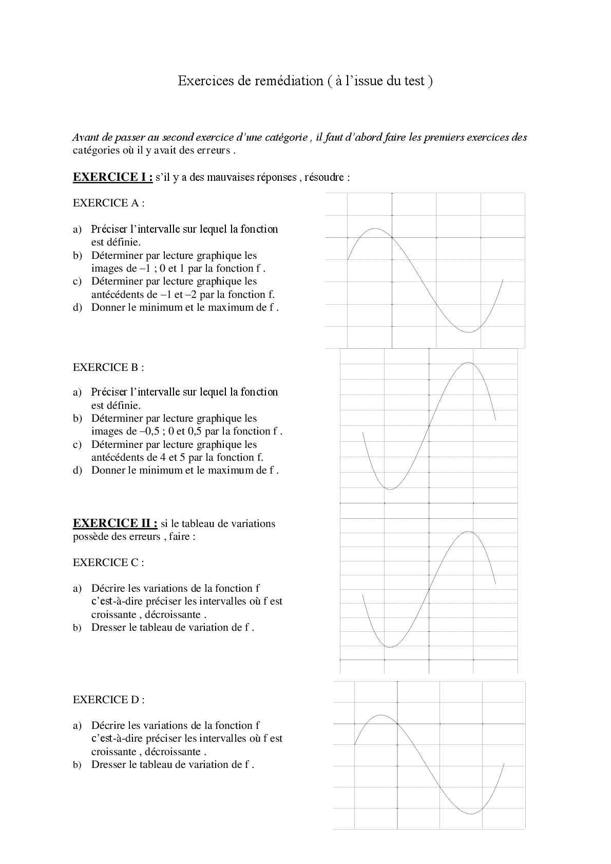 Calameo Exercices De Remediation Suite A Un Test
