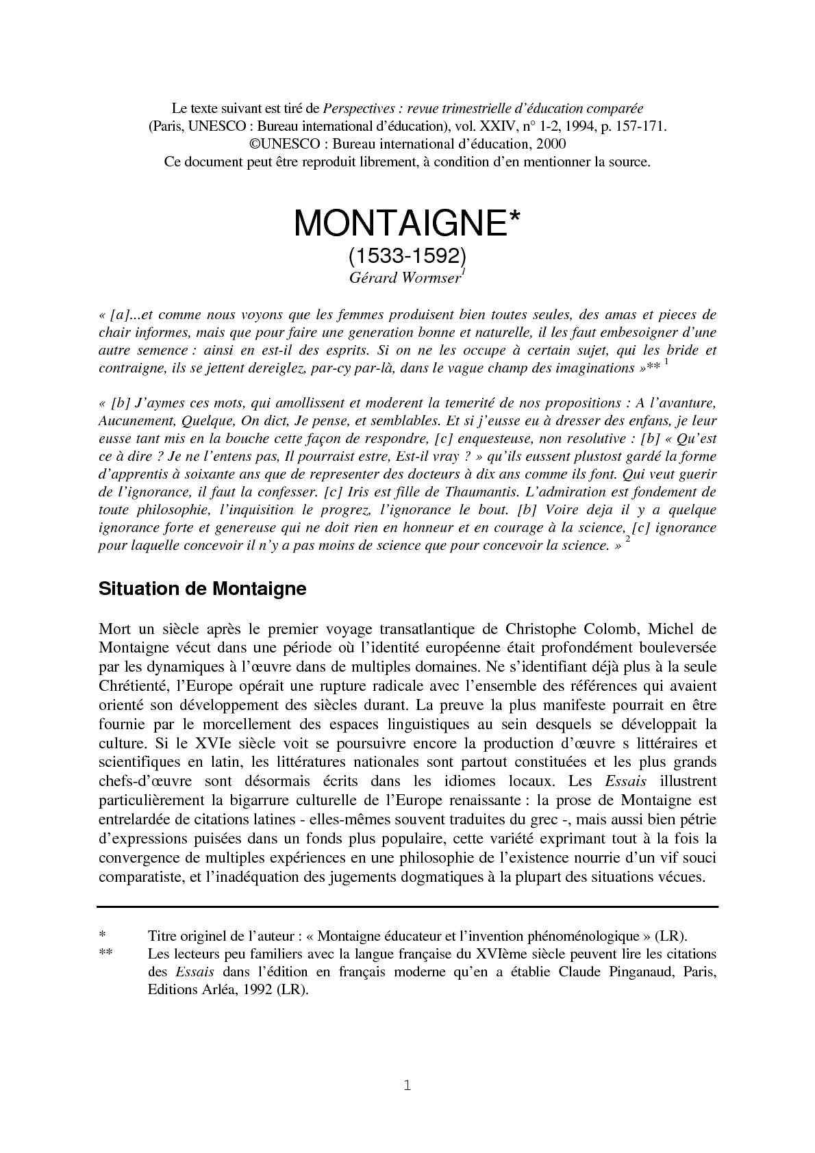 Calaméo - Grands penseurs en éducation- Michel de Montaigne b3d6529b0dc