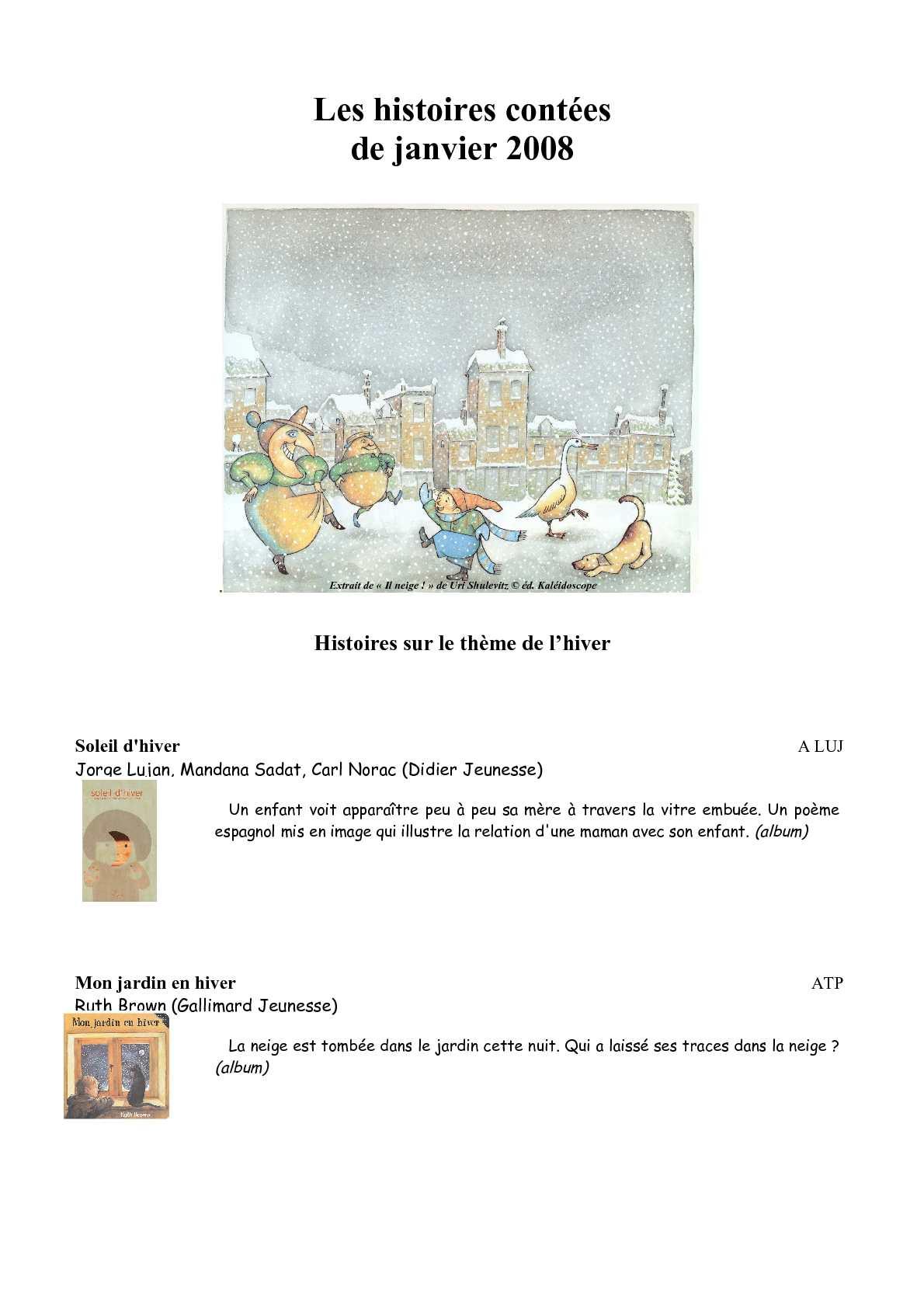 Calaméo Histoires Sur Le Thème De Lhiver