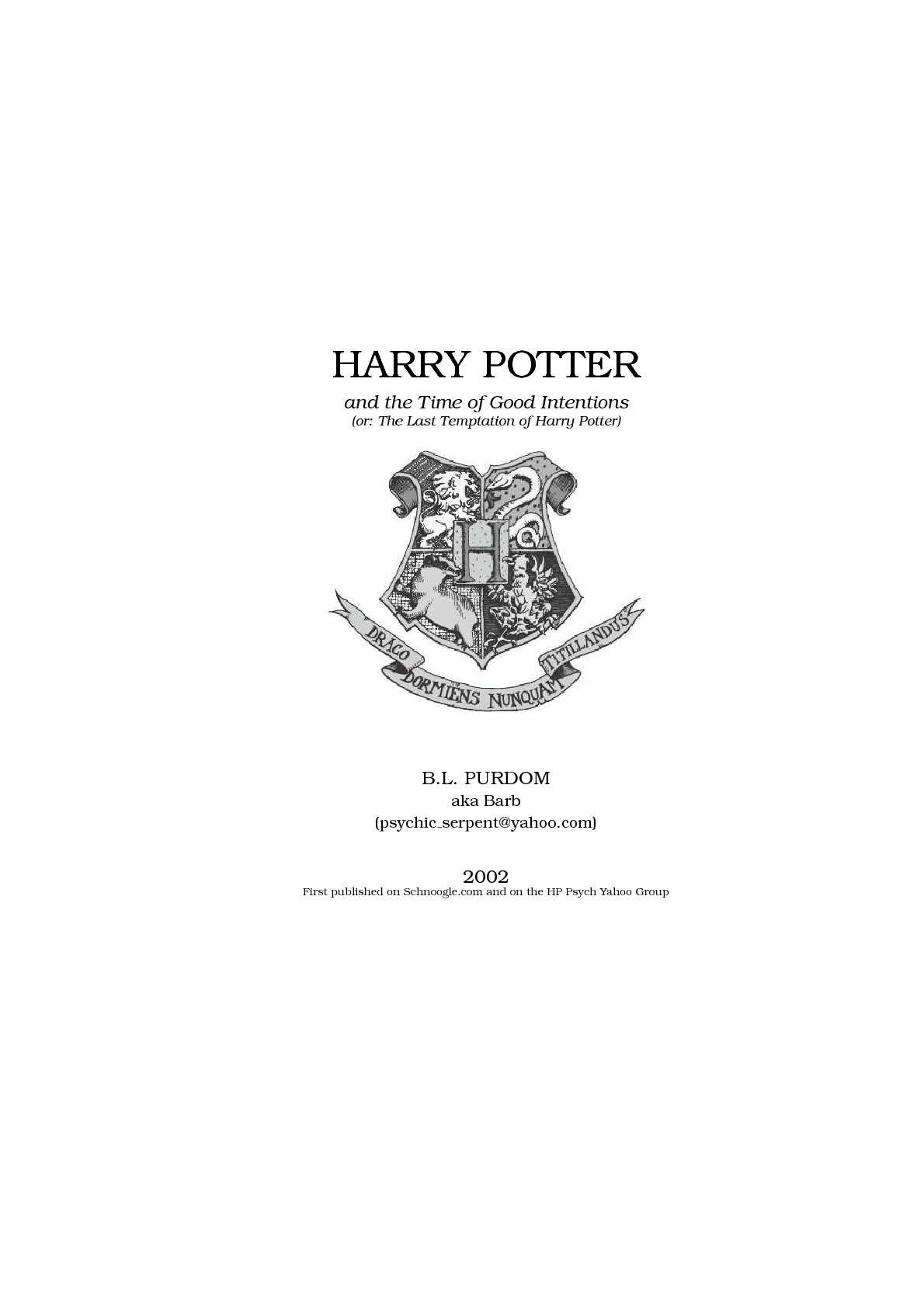Calaméo - Fanfiction Harry Potter and the Time of Good