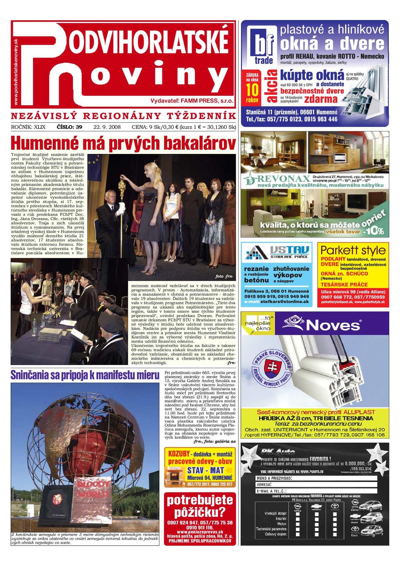 94d6bc4773 Calaméo - Podvihorlatské noviny 39 2008