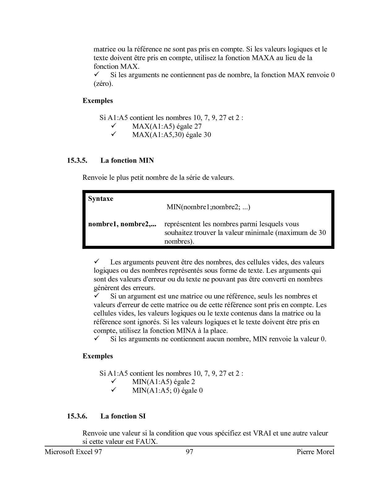 Microsoft Excel Par Pierre Morel - CALAMEO Downloader
