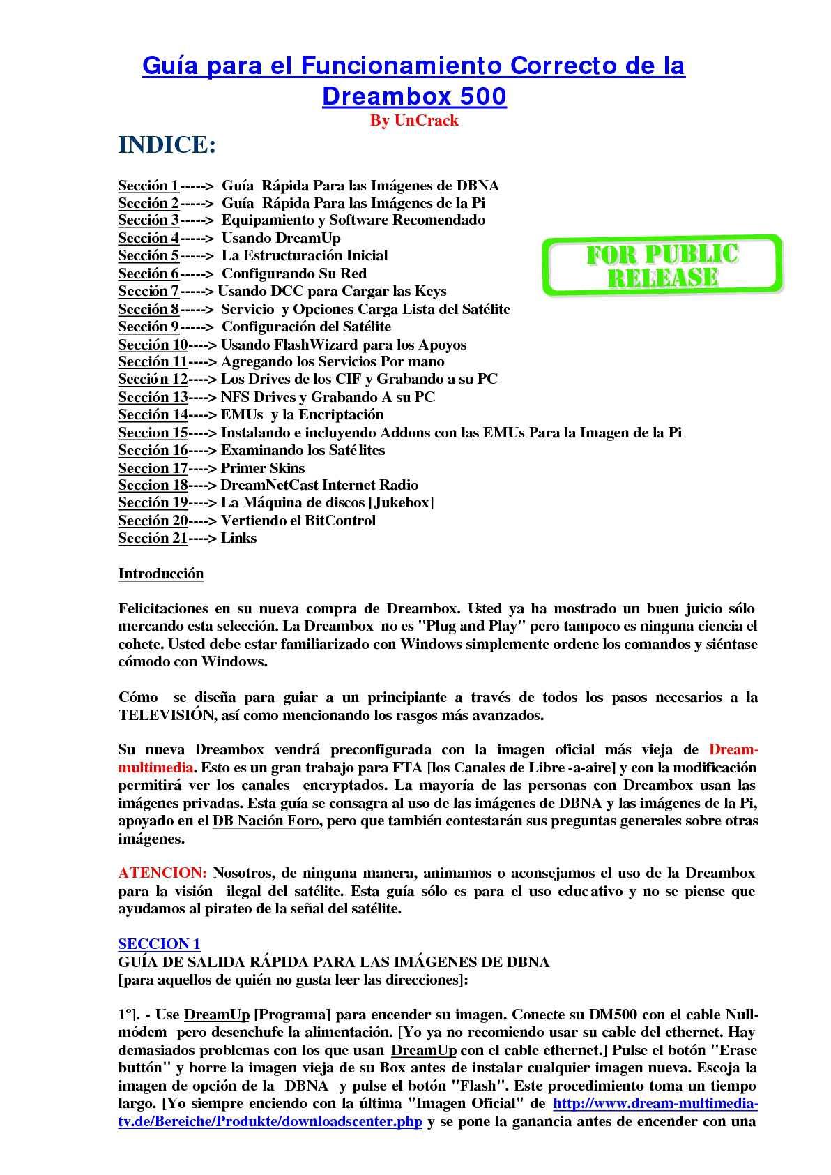 GUIA DREAMBOX 500 1ª PARTE - CALAMEO Downloader