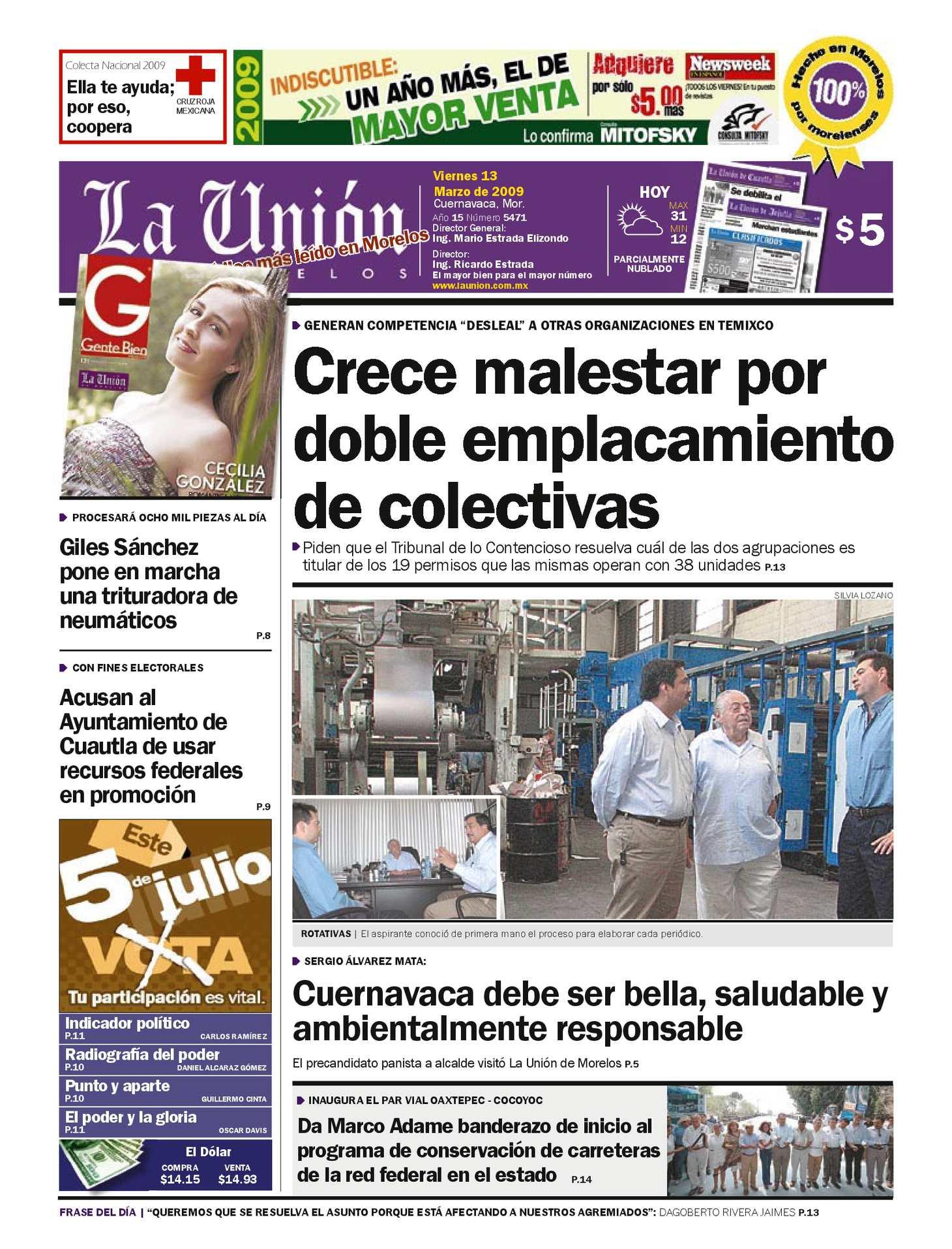Calaméo - La Unión de Morelos 13 Marzo 2009