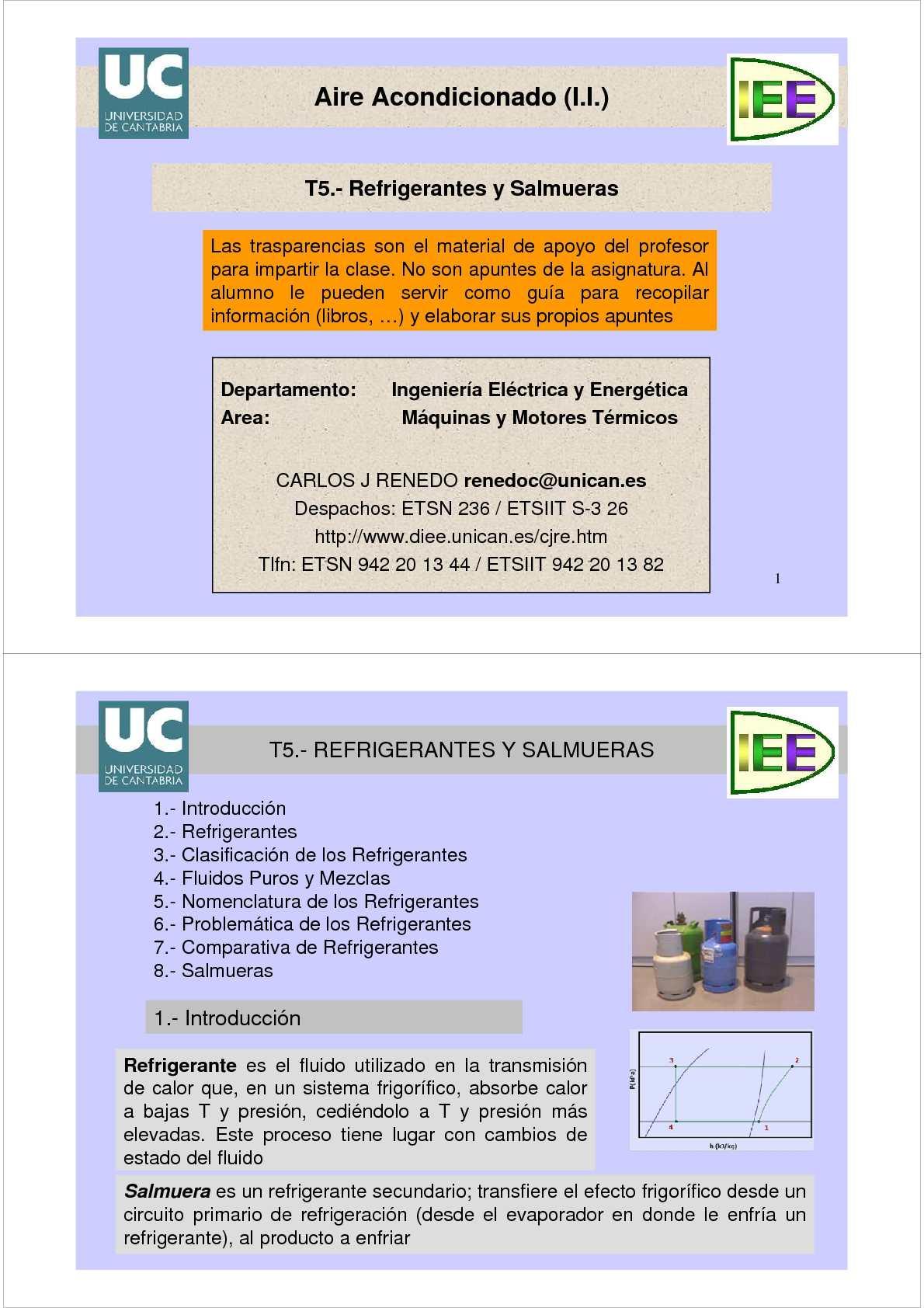 clasificacion de fluidos refrigerantes