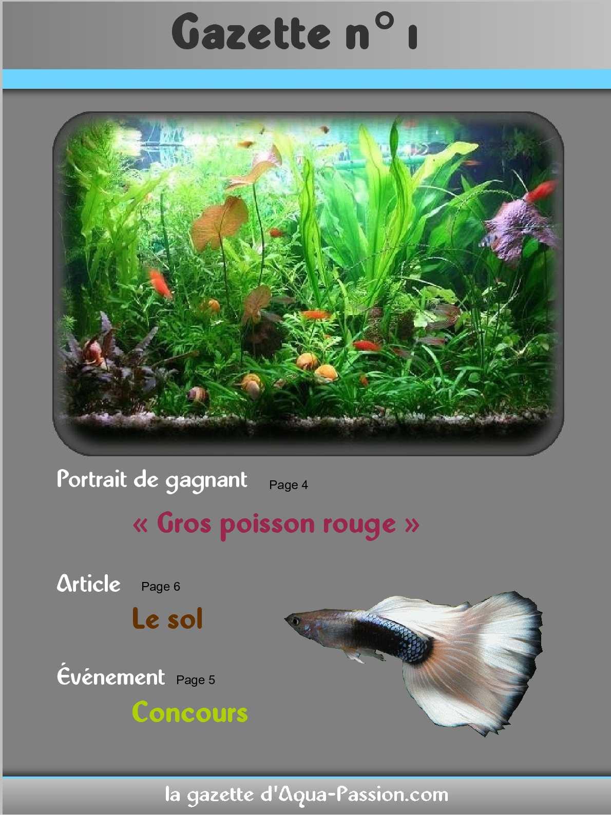 Gazette n°1 - Aqua-Passion.com