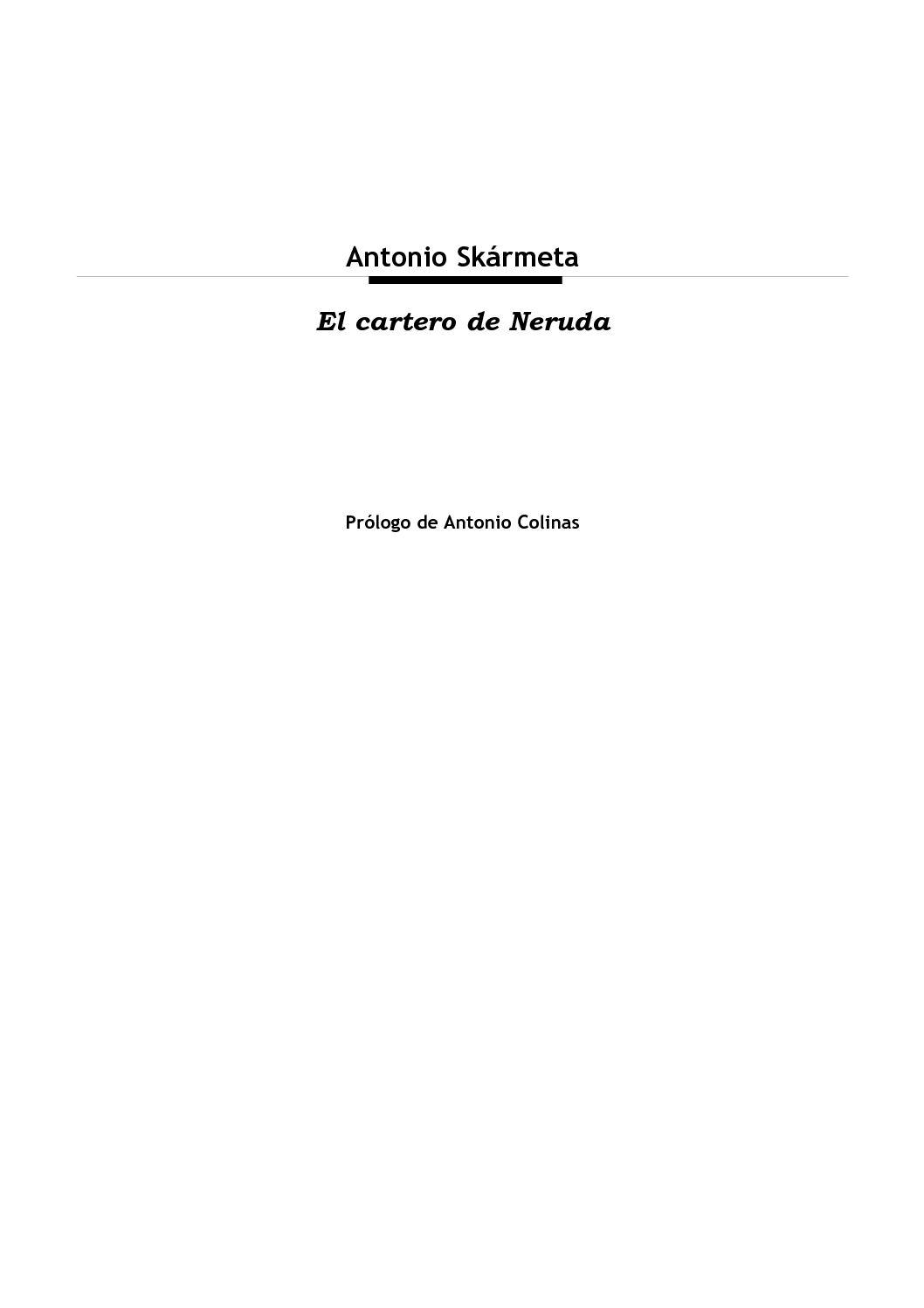 Calaméo Skármeta Antonio El Cartero De Neruda