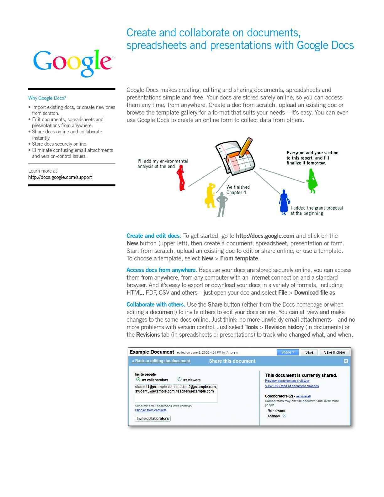 Calaméo - Google Docs Start Guide