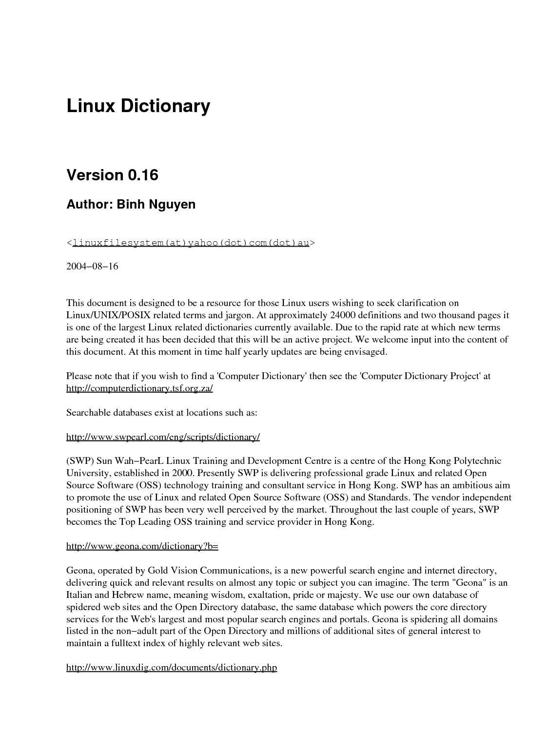 Calaméo - Linux Dictionary