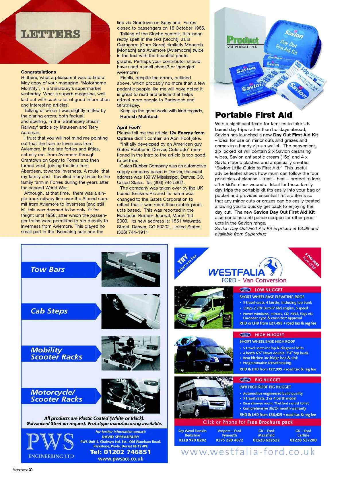 June 2009 - Motorhome Monthly Magazine - CALAMEO Downloader
