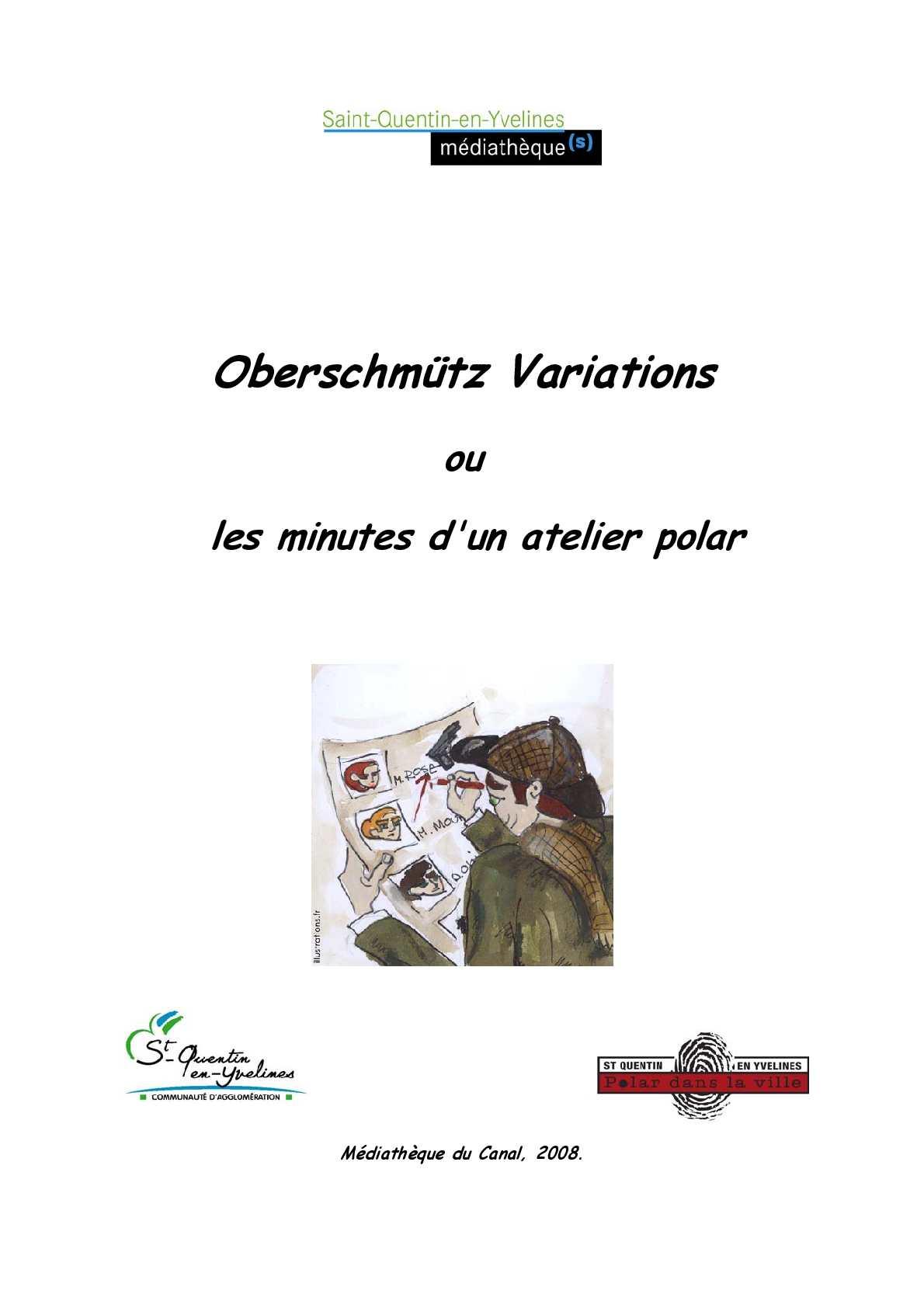 Calaméo Oberschmütz Variations Ou Les Minutes Dun Atelier