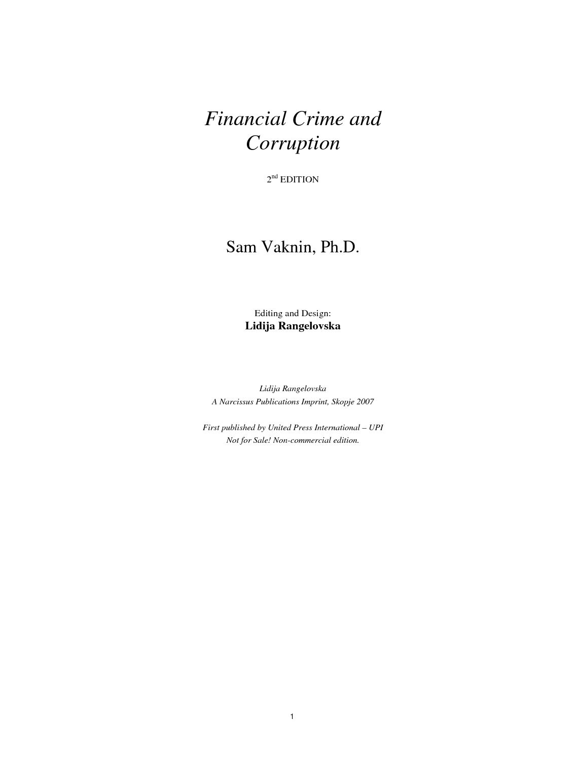 Political Portent Written In Slush At >> Calameo Corruption And Financial Crime Pdf