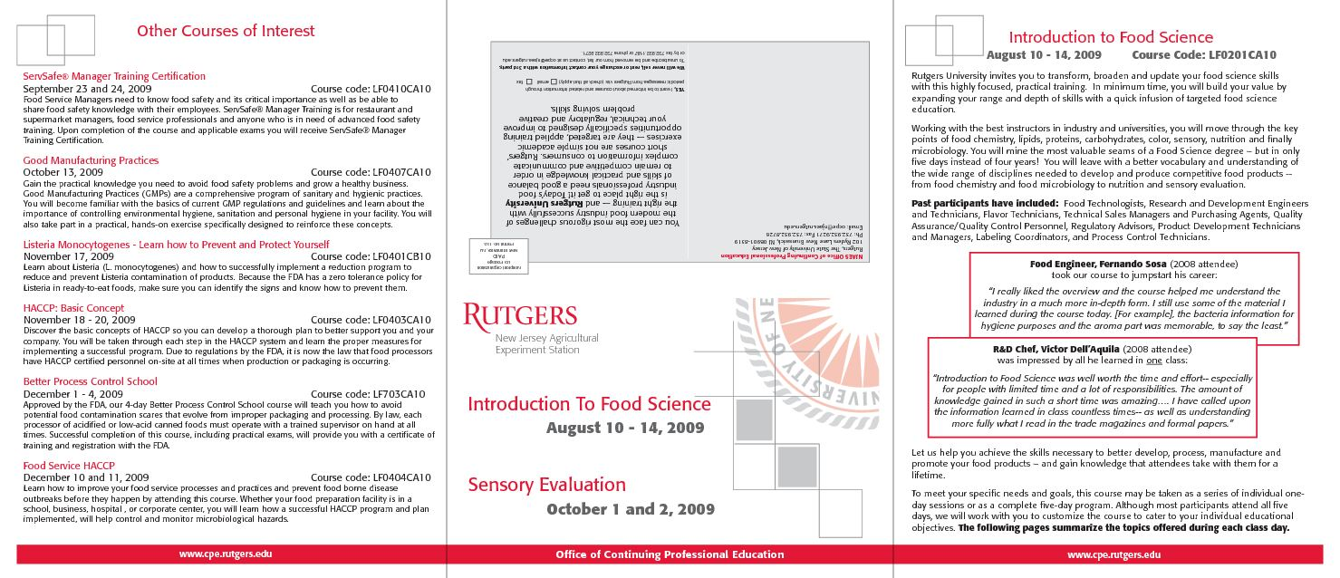 Calaméo - Rutgers food science and food safety training
