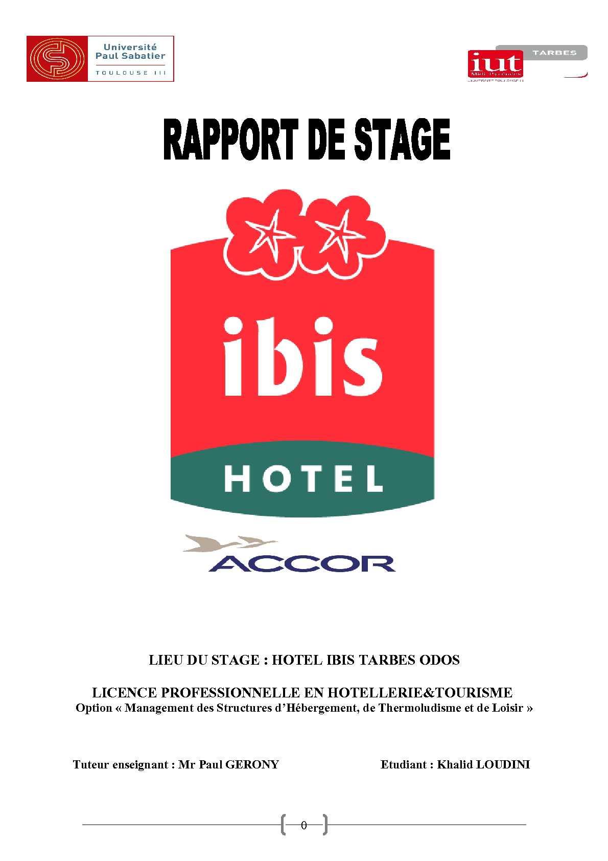 Rapport De Stage Ibis Hôtel Calameo Downloader