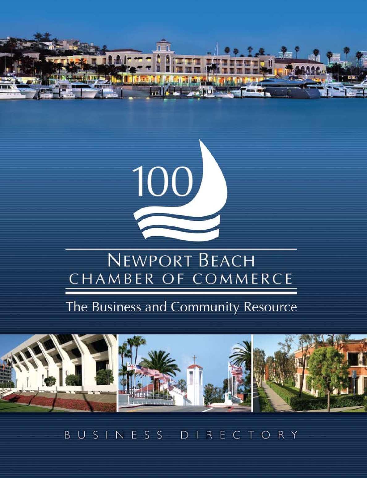 Calaméo - Newport Beach Chamber of Commerce Business Directory