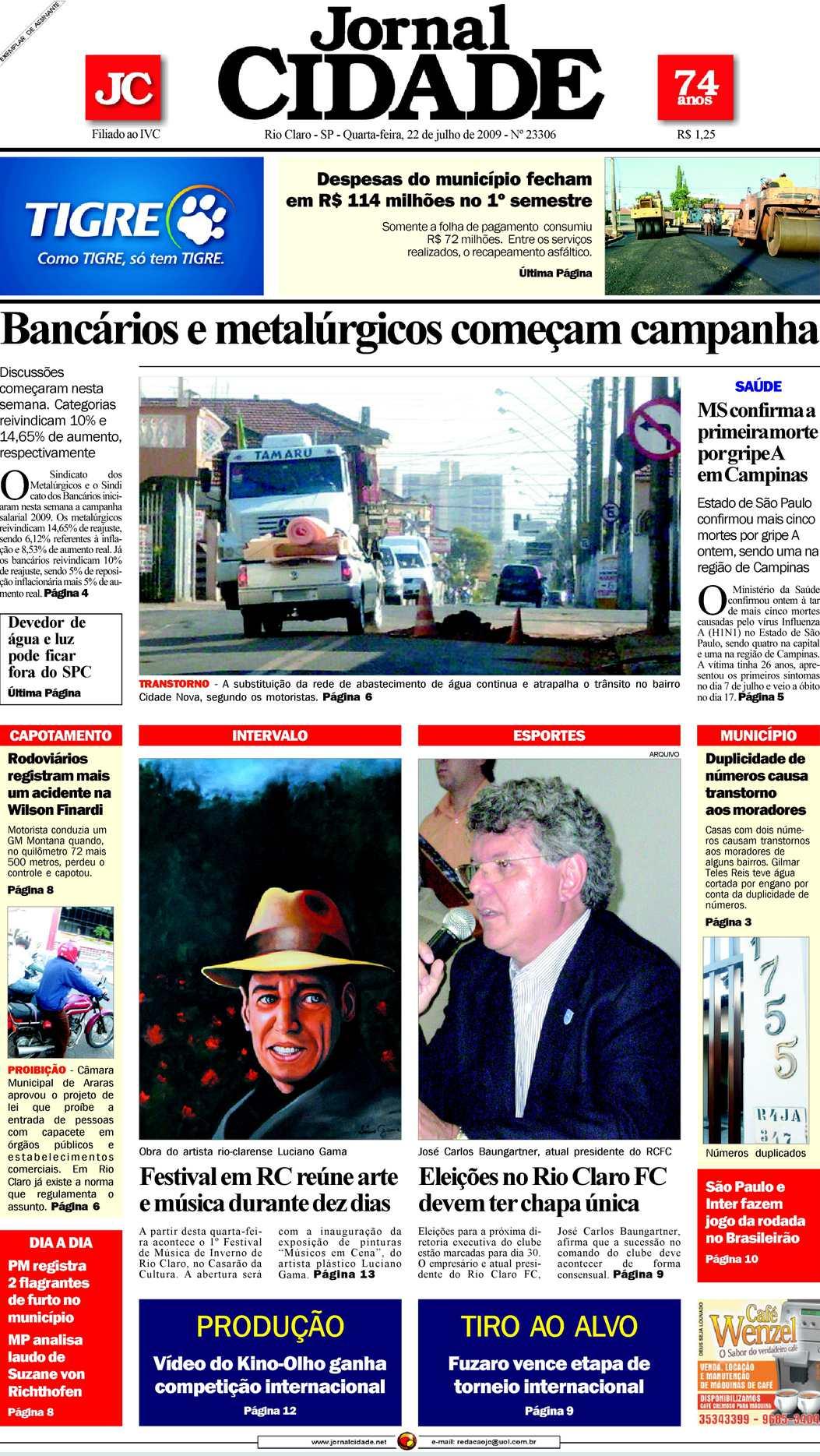 a087d49358269 Calaméo - Jornal Cidade de Rio Claro 22 07 2009
