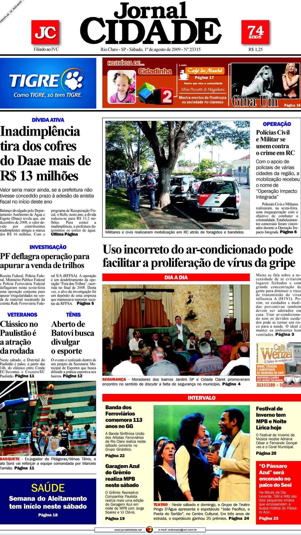 24b940c32f Calaméo - Jornal Cidade de Rio Claro - 01 08 2009