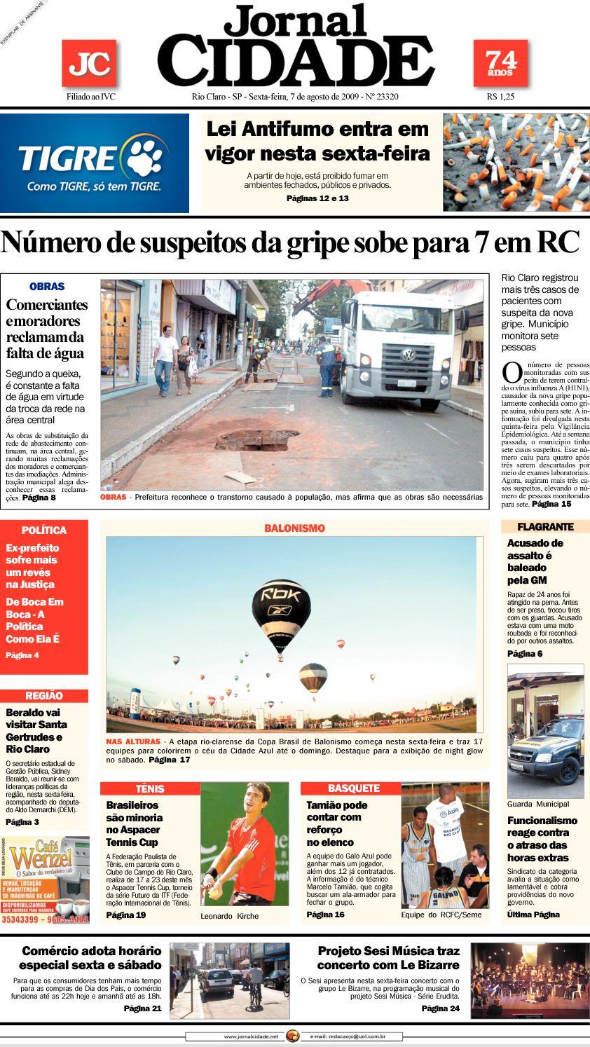 5917fa8341 Calaméo - Jornal Cidade de Rio Claro - 07 08 2009