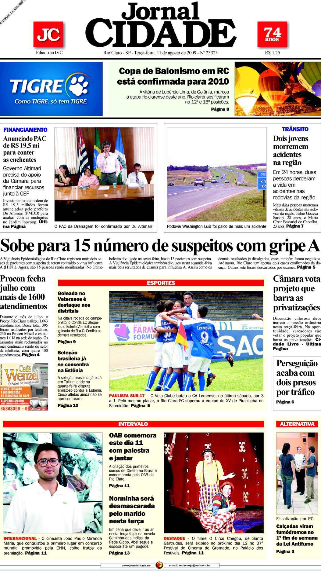 Calaméo - Jornal Cidade de Rio Claro - 11 08 2009 5496761080b