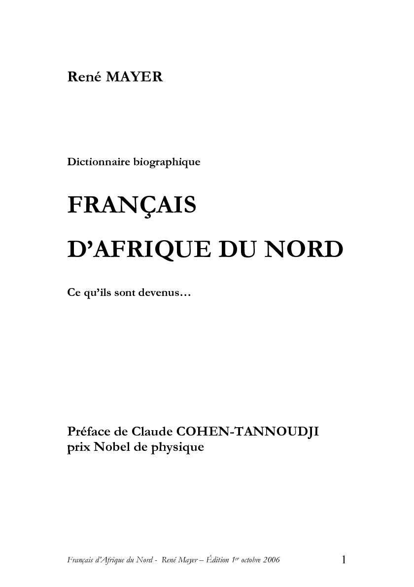 Calaméo - Dictionnaire biographique des Français d AFN de René Mayer 4d68aa389e17
