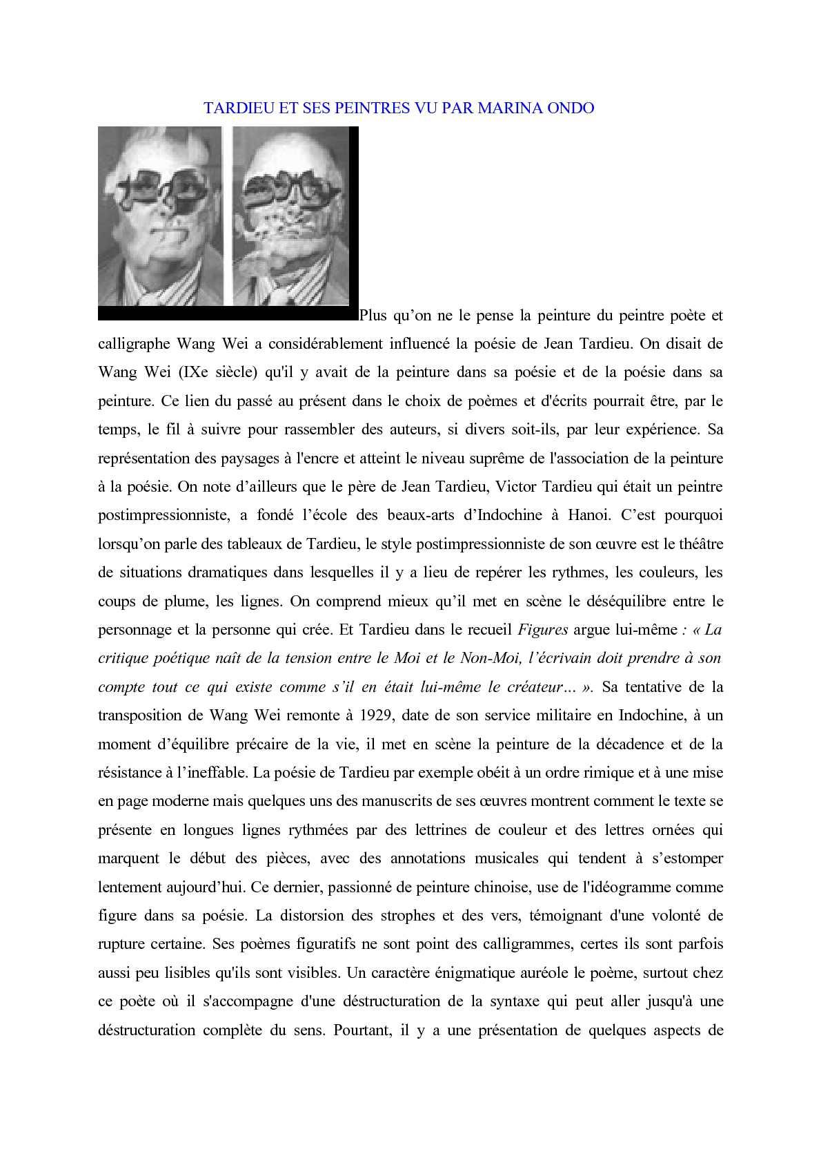 Calaméo Jean Tardieu Et Ses Peintres Vu Par Marina Ondo