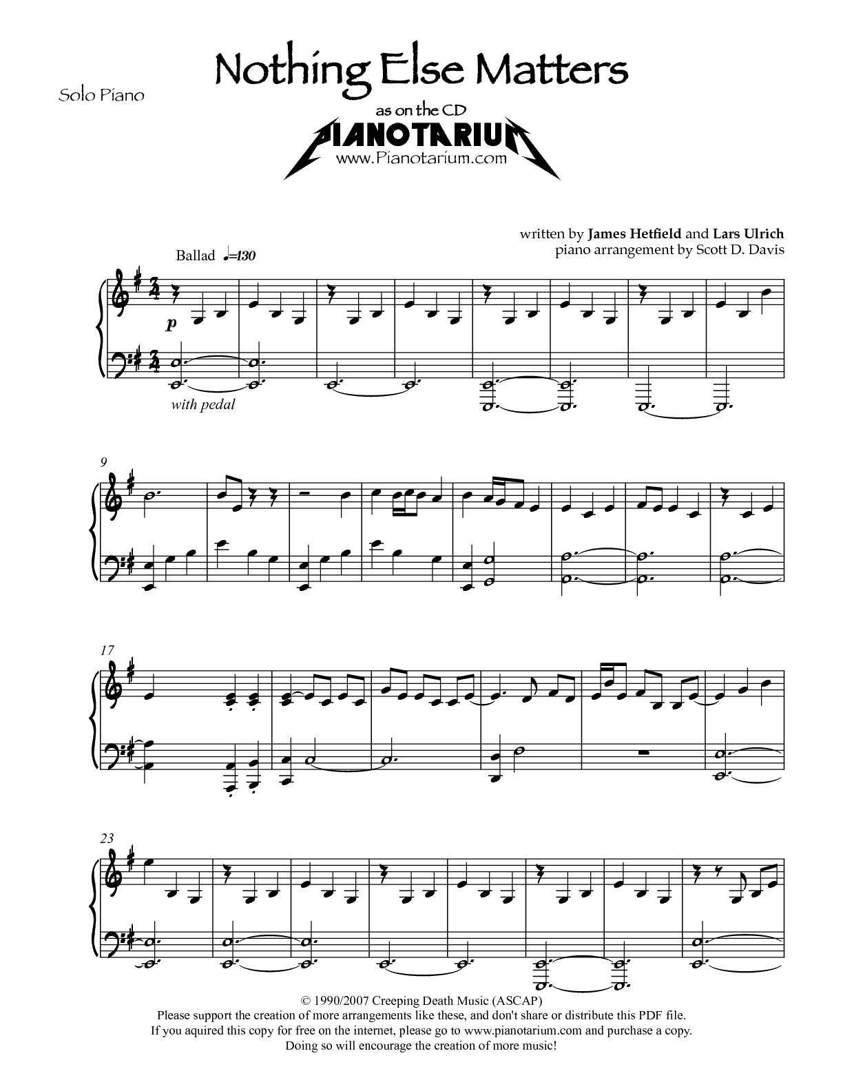 Death magnetic pdf metallica songbook