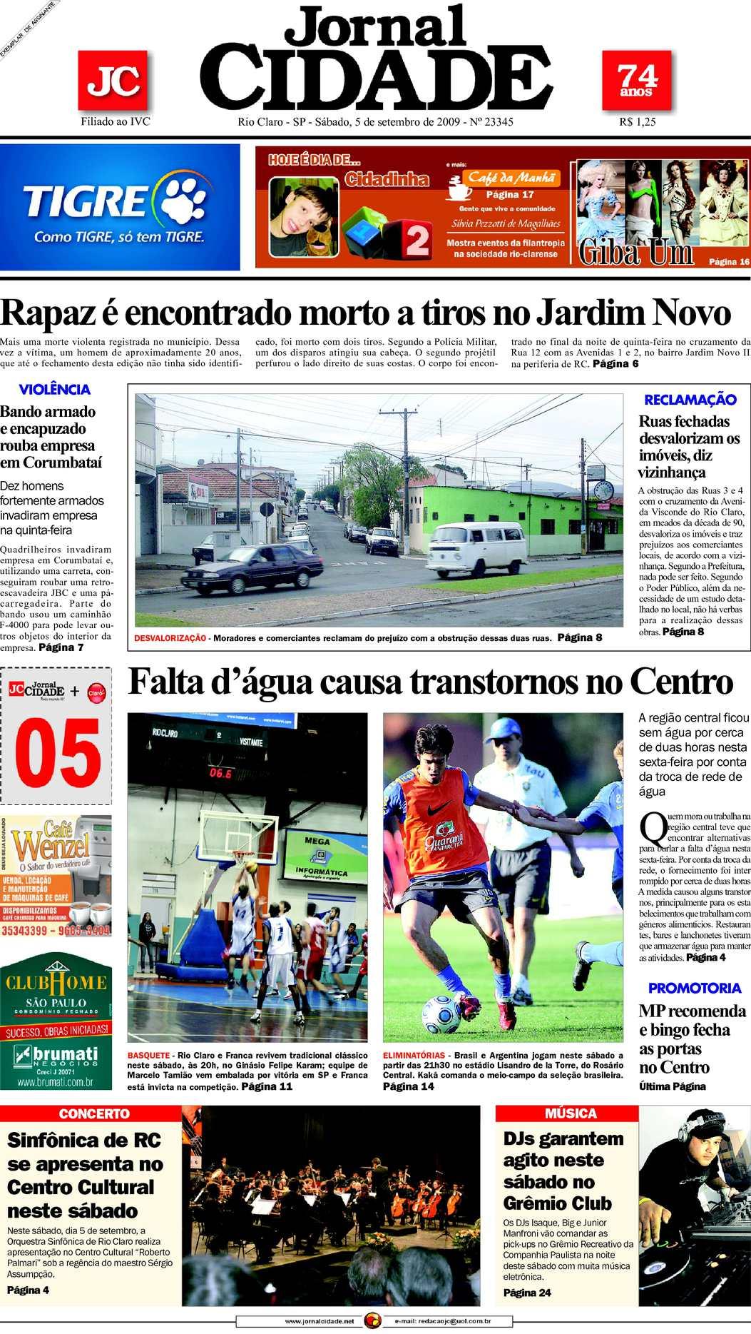 4bc26d0bb7d57 Calaméo - Jornal Cidade de Rio Claro - 05 09 2009