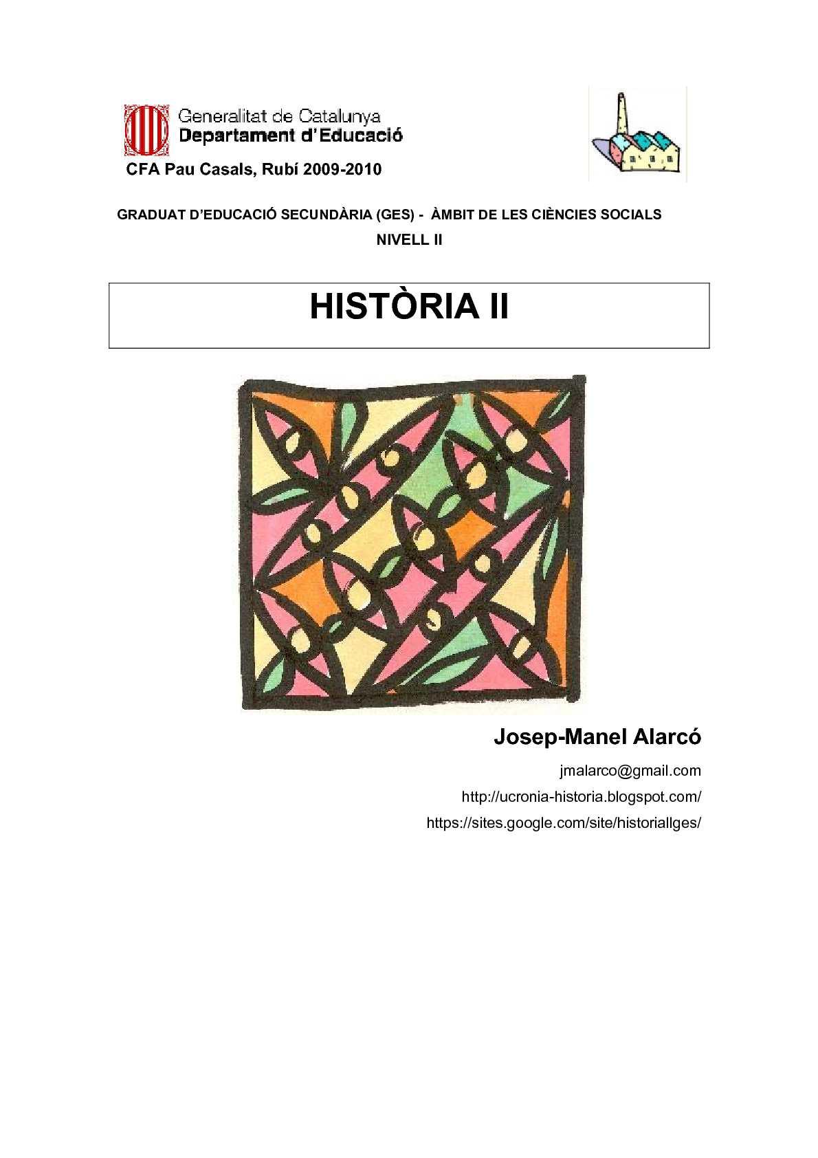 HISTÒRIA II GES II