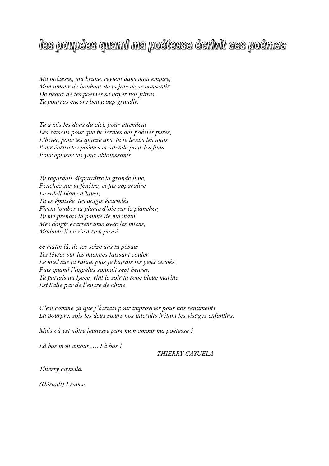 Calaméo Lépopée Quand Ma Poétesse écrivit Ces Poémes