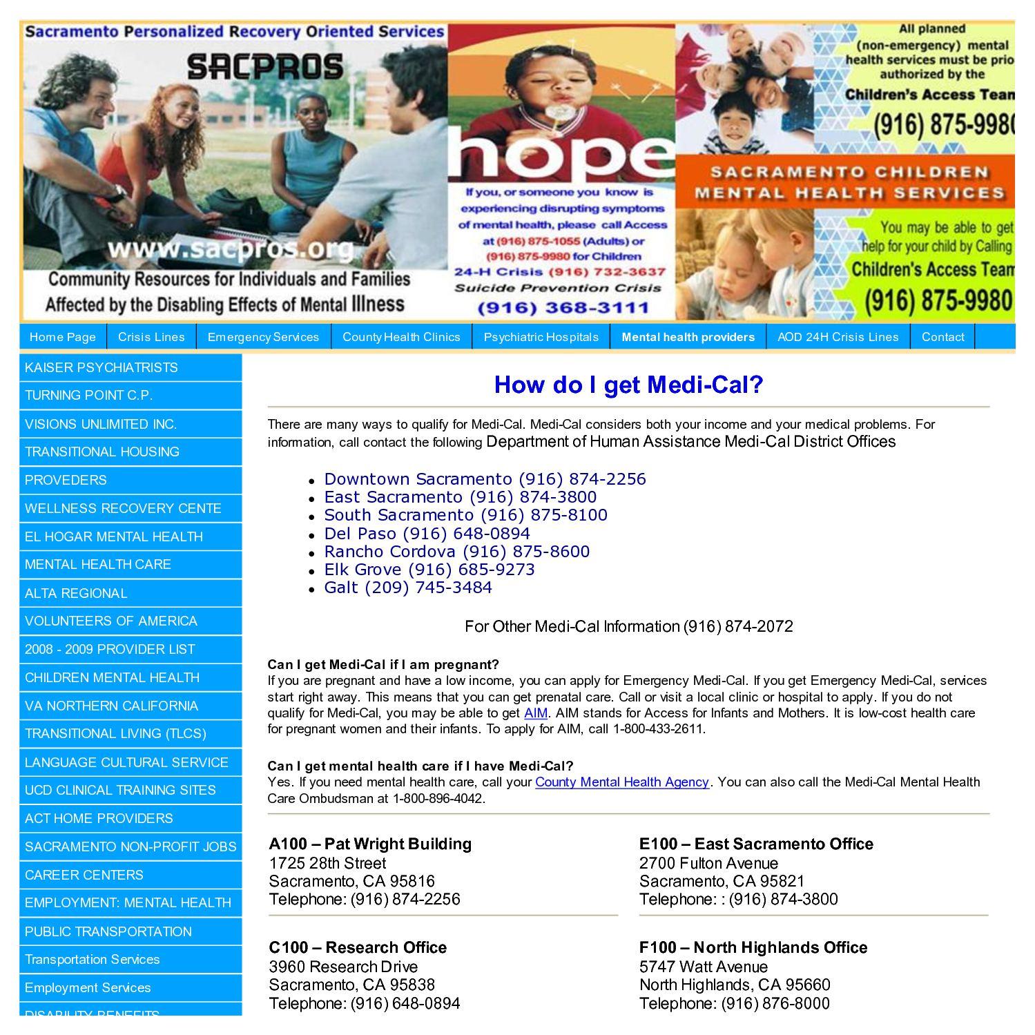 Calameo Sacramento County Department Of Human Assistance Sites