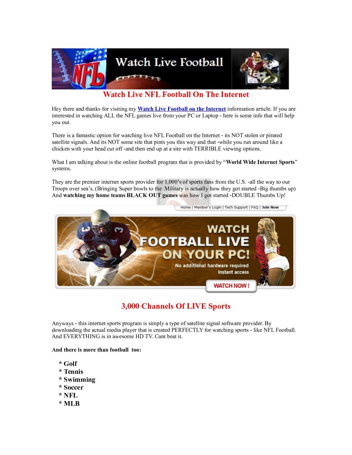 Calaméo - Watch Live Football On Internet