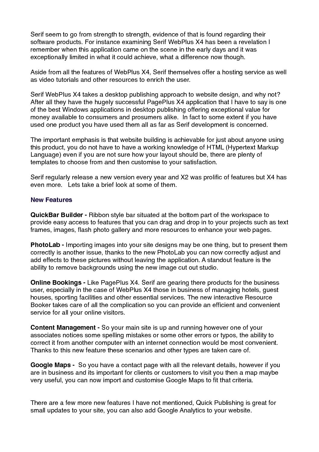 Calaméo - WebPlus X4 Review