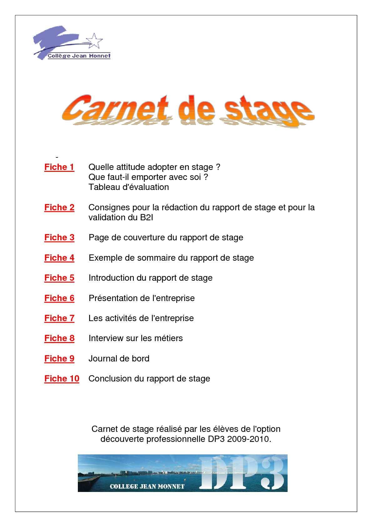 Calaméo Carnet De Stage